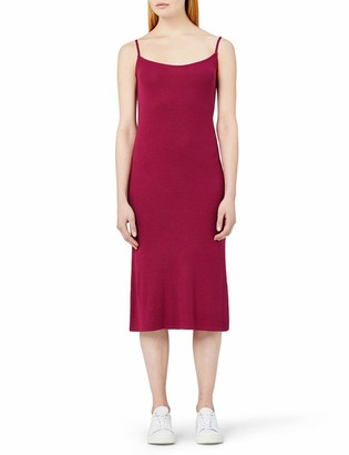 Meraki Amazon Brand Women's Slim Fit Rib Summer Midi Dress