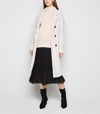 New Look Maternity Chiffon Pleated Midi Skirt