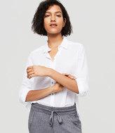LOFT Lou & Grey Dobby Stripe Button Down Shirt
