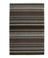Chilewich Mixed Stripe Shag Rug - Oak - 61x91cm
