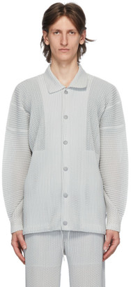 Homme Plissé Issey Miyake Grey Outer Mesh Jacket