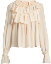 See by Chloe Ruffled silk top