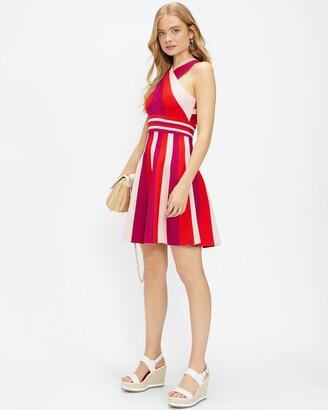 Ted Baker Metropolis Stripe Knit Skater Dress