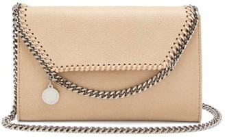 Stella McCartney New Falabella Mini Faux-suede Shoulder Bag - Beige