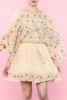 Easel Embroidered Mini Dress
