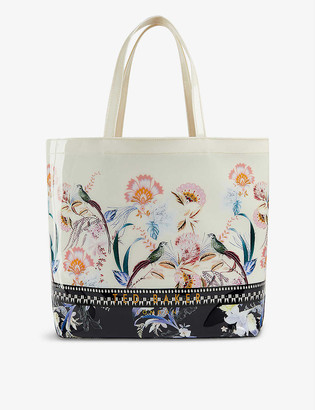 Ted Baker Decacon Decadence Icon large vinyl tote bag