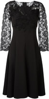 Ermanno Scervino lace sleeve midi dress - women - Polyester/Spandex/Elastane - 40