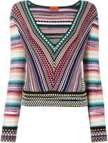 Missoni V-neck zig-zag stripe jumper