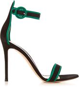 Gianvito Rossi Portofino contrast-trimmed suede sandals