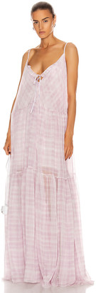 Jacquemus La Robe Mistral in Print Pink Checked | FWRD