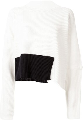 Sulvam Ribbed Asymmetric Jumper
