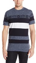 Southpole Men's Short Sleeve T-Shirt Marled Cut and Sewn with Accent Patterns