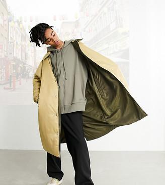 Collusion Unisex longline oversized reversible puffer jacket