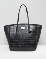 Marc B Kandi Croc Simple Shopper Bag