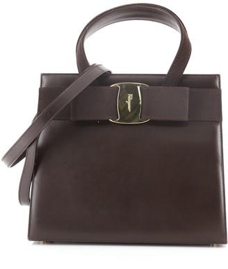 Salvatore Ferragamo Convertible Vara Bow Tote Leather Small