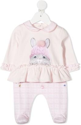 Lapin House Bunny-Print Pajamas