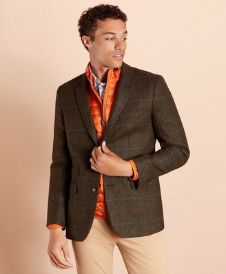 Brooks Brothers Plaid Wool Two-Button Sport Coat
