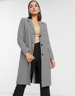 Helene Berman tailored coat in mono check