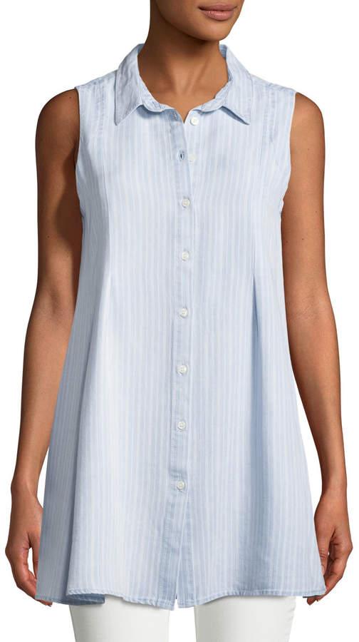 Velvet Heart Blanche Sleeveless Striped Tunic