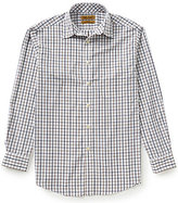 Roundtree & Yorke Gold Label Non-Iron Long-Sleeve Tattersol Plaid Sportshirt