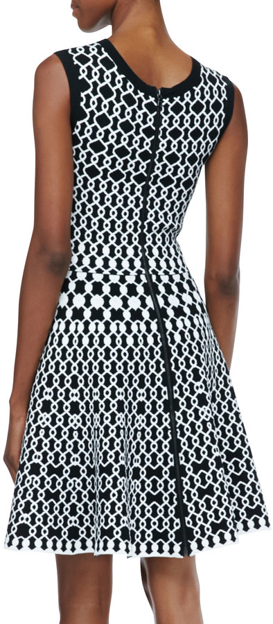 Alice + Olivia Jaisey Printed A-Line Dress