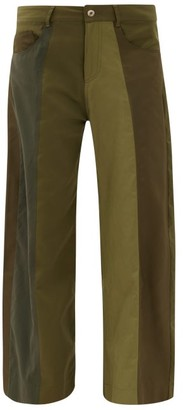 Marques Almeida Upcycled Deconstructed Panelled Wide-leg Trousers - Khaki