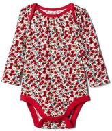 Gap Red poppy long sleeve bodysuit