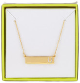 BaubleBar 14K Gold Plated Ice &U& Initial Bar Pendant Necklace