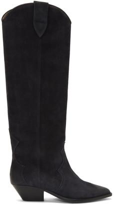 Isabel Marant SSENSE Exclusive Black Washed Denvee Boots
