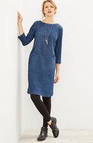 J. Jill Seamed Denim-Stretch Dress