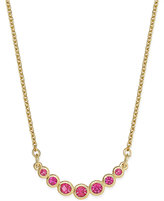 Kate Spade Dainty Gold-Tone Bezel-Set Crystal Necklace