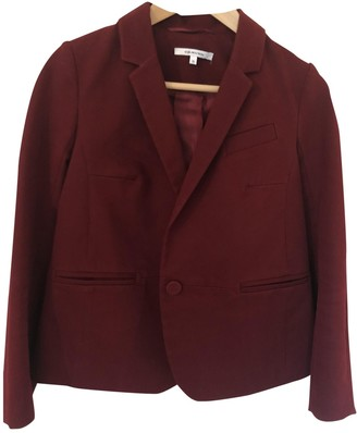 Carven Burgundy Cotton Jackets