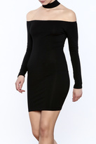 Reverse Choker Bodycon Dress