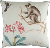 Sanderson Capuchins Monkey Cushion - 50x50cm - Sea Green