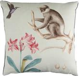 Sanderson Capuchins Sea Green Cushion - 50x50cm - Monkey