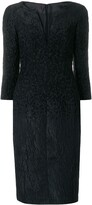 Talbot Runhof midi jacquard dress