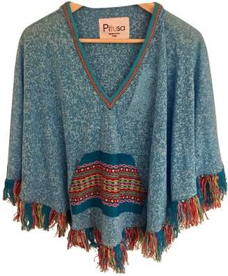 Pitusa Turquoise Cotton Tops