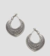 Reclaimed Vintage Engraved Hoop Earrings