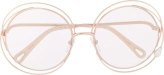 Chloé Carlina Pearl round-frame sunglasses