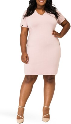 Poetic Justice Evelyn Grommet Detail Tulip Hem Dress