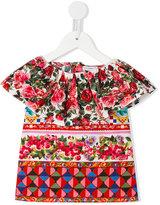 Dolce & Gabbana floral print blouse - kids - Cotton - 24 mth