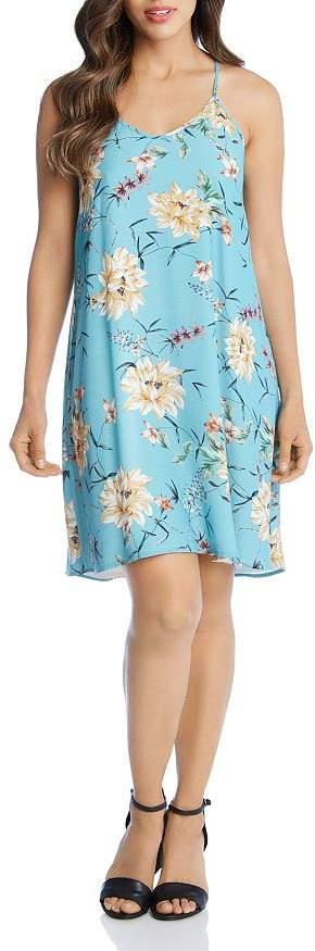 Karen Kane Floral-Print Slip Dress