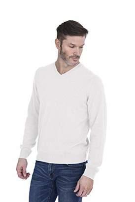 Cashmeren Men's Basic V-Neck Sweater 100% Pure Cashmere Long Sleeve Pullover (