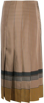 Joseph Saria plaid pleated skirt