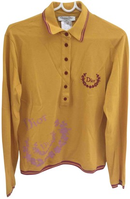 Christian Dior Yellow Cotton Knitwear for Women Vintage