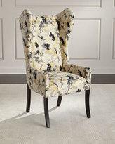 Maha Sapphire Wingback Chair, Ivory