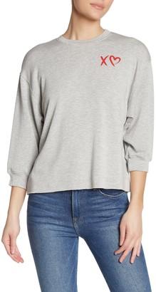 Velvet by Graham & Spencer Fleece 3/4 Sleeve Sweater