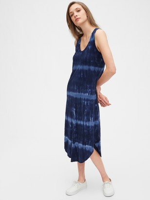 Gap Scoopneck Tie-Dye Midi Dress