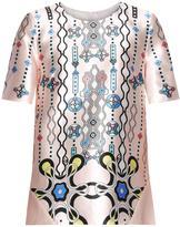 Peter Pilotto Check abstract-print silk top