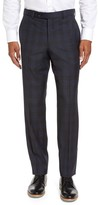 Ted Baker Men's Jefferson Flat Front Plaid Wool Trousers